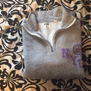d276b6aba7f4 American Eagle Outfitters Shirts - Tailgate NYU Half Zip Fleece Popover  Sweatshirt